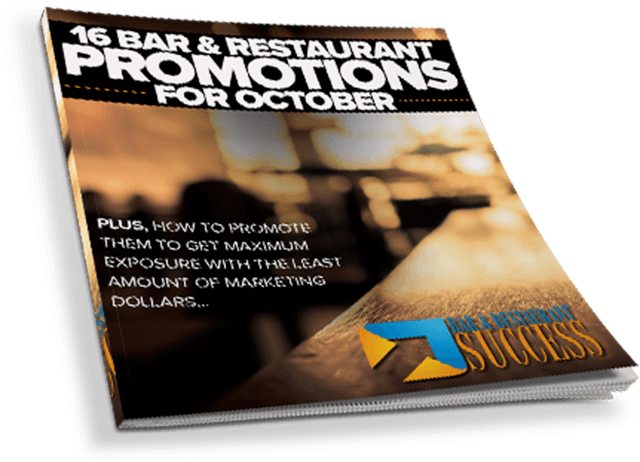 16 Bar Restaurant Promotions For October